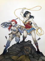 Sonja and Wonder Woman by Harpokrates