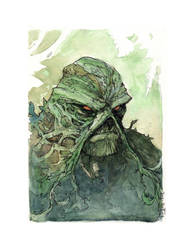 Swamp Thing Bust Commission by Harpokrates