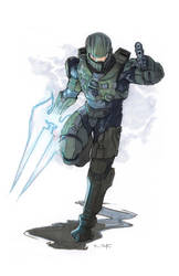 Master Chief ~ Commission by Harpokrates