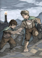 Frodo and Sam ~ Commission by Harpokrates