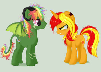 Ryuchi And Fire Heart .:Collab:. by XKSilver