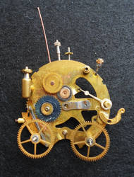 Steampunk carriage brooch by lilvoodoo