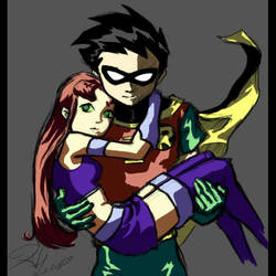 Robin and Starfire take 1 by hanime
