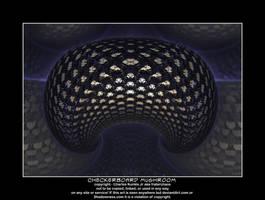 checkerboard mushroom by fraterchaos