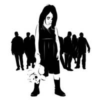 Little Girl And Zombies by Midwinter-Creations