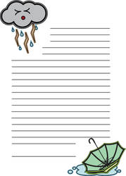 Rainy Day Stationary paper by NicoleWKonigs