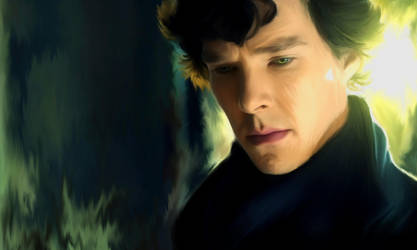 Sherlock in yellow light by Nadia-Ch