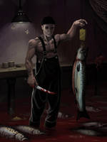 Fishmonger by nilwill