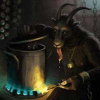 Krampus in the Kitchen by nilwilnil