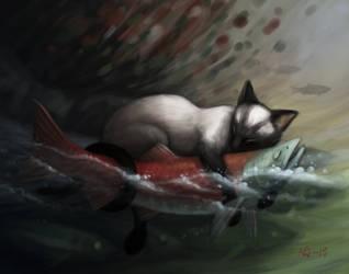 Finger Fishing by nilwilnil