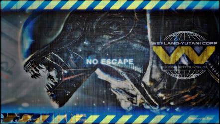 alien-isolation-wallpaper-No escape VII by Xenomorphe-Xeno