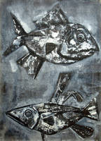 Two Grey Fish. 1998 by Yudaev