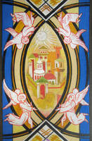 Esquisse for the Glass Painting 'City of the by Yudaev