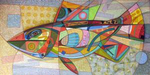 Large Motley Fish. 2012 by Yudaev