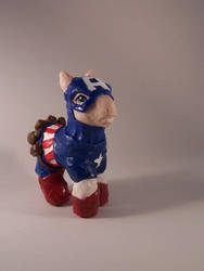 My little Captain America by xXPaintedxPonyXx
