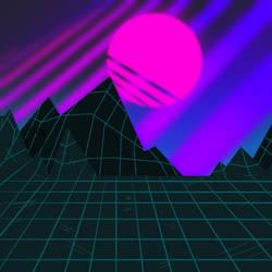 Vaporwave background by CPtheLunarGoat