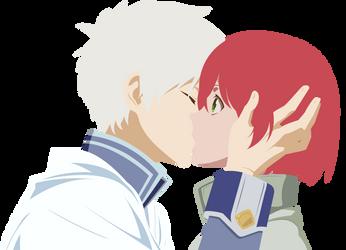[Vector] Zen Wistaria and Shirayuki - First Kiss by Coolez