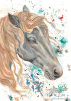 Horse in Watercolour by KathrynWhiteford
