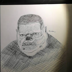 Fat-face Inktober 2017 day #16 by KleonX