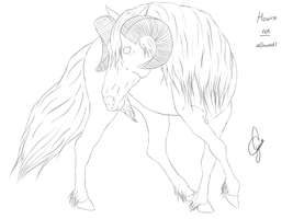 Aries Horse lineart by Alywe