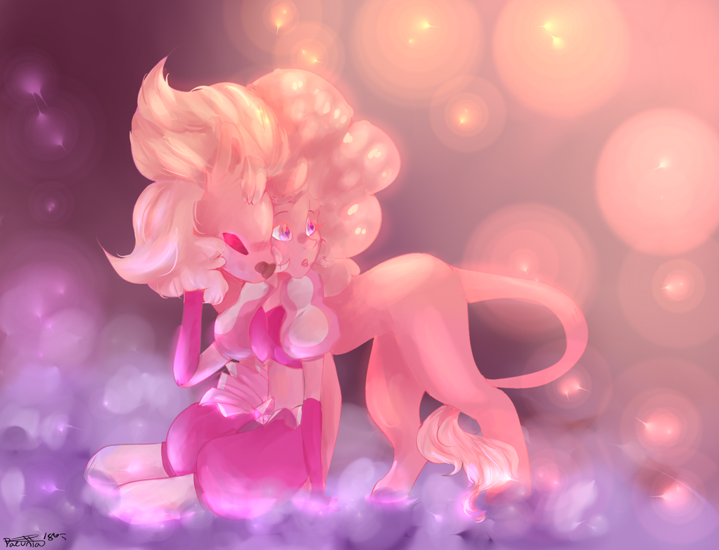 Pink Diamond And Lion by Paeunia