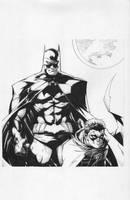 Batman Robin inks by JosephLSilver