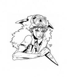 Princess Mononoke inks by JosephLSilver