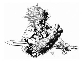 Lion-o inks by JosephLSilver