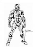 X-O Manowar inks by JosephLSilver