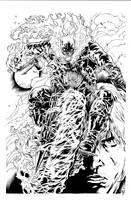 Ghost Rider inks by JosephLSilver