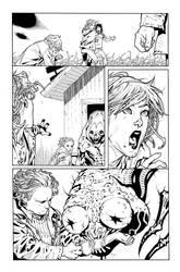 Animal Man 16 page 16 inks by JosephLSilver