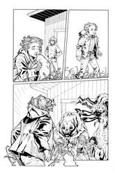 Animal Man 16 page 15 inks by JosephLSilver