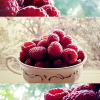 Raspberries by rosaarvensis