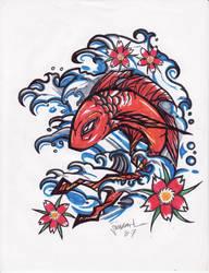 Hand drawn koi by jimcarlene