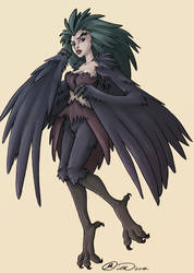 Day 01- Harpy by jillybean200x