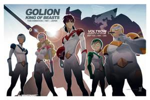 GoLion Voltron by braeonArt