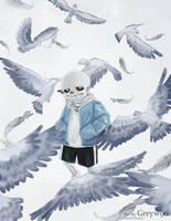 Sans - Birds (Uncover) by Greywalker2