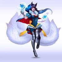 Snow White Ahri - Fan skin by Blanca-J-E