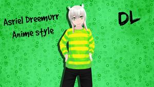 MMD Undertale Asriel Anime Style (DL) by Foxvinny-art