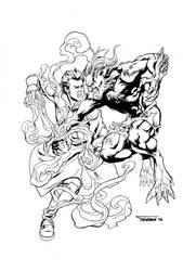 Atum vs Barton Kickstarter Print by DRPR