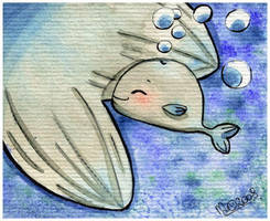 Baby whale by yuki-the-vampire