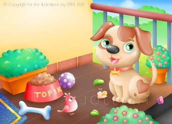 Tofik, the cute puppy by yuki-the-vampire