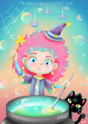 Pink Witch by yuki-the-vampire