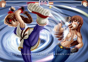 Hitomi vs Yuri 2 by Mutenroushi