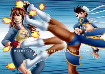 Hitomi vs Chun li by Mutenroushi