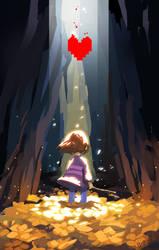 The fallen child by Serain