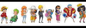 Straw Hat Pirates - 3D2Y by batteryfish