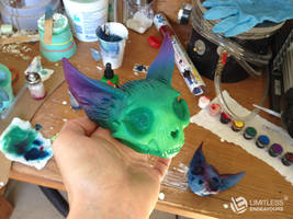 Skulls In Progress by LimitlessEndeavours