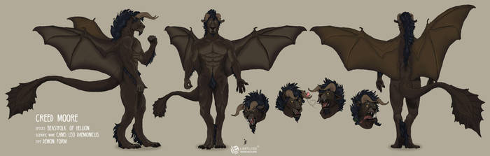 Character Sheet Commission by LimitlessEndeavours