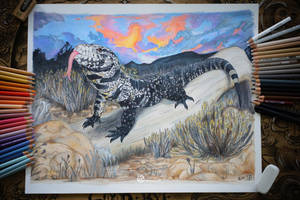 Pet Tegu Commission by LimitlessEndeavours